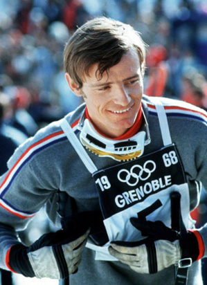 Jean-Claude Killy - triple champion olympique aux J.O. de 1968 - © Getty Image