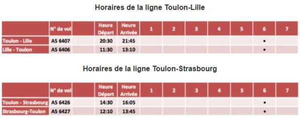 Nouvelles lignes HOP! Air France au départ de Toulon