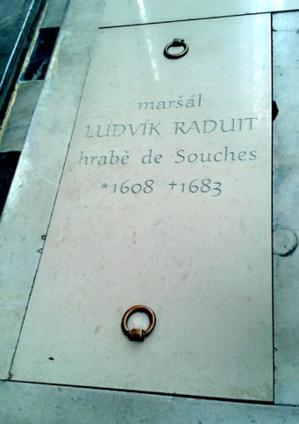 Tombe de Jean Louis Raduit de Souches en l'Eglise  Saint-Pierre et Paul de Brno - © H. Gouleret