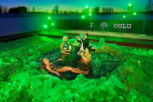 Polar Bear Pitching à Oulu en Finlande - © DR
