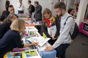 Véritable événement dans l'événement, le salon du livre Amerigo Vespucci est la plus grande librairie de géographie en France pendant trois jours© FIG