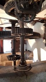 Une partie du mécanisme du moulin - © Hubert Gouleret
