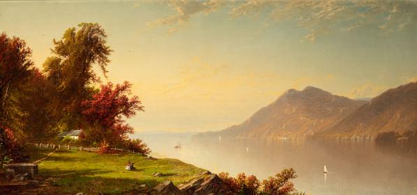 Alfred Thompson Bricher (1837-1908) Le Fleuve Hudson à West Point, 1864 © Terra Foundation for American Art, Chicago.