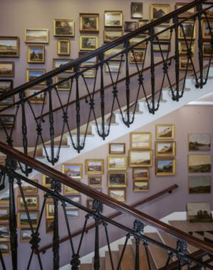 L'escalier aux oeuvres © Jannes Linders