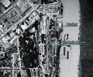 Zones de l'Arsenal en 1947 - © DR