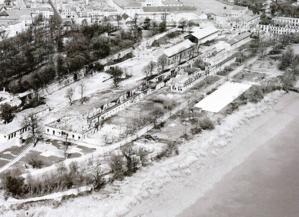 La Corderie Royale après l'incendie de la Seconde Guerre mondiale - © DR