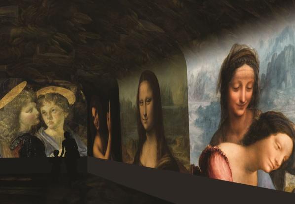 Spectacle immersif - image de synthèse © Château du Clos Lucé – Parc Leonardo da Vinci. Arc-en-Scène - Drôle de Trame
