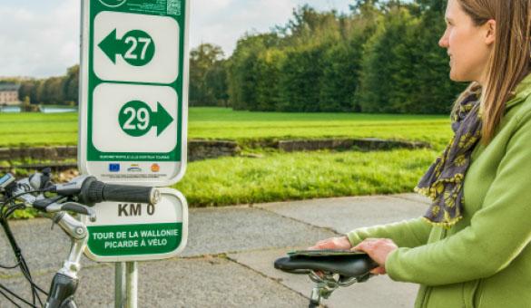 Véloroutes et voies vertes balisées de Wallonie - © Wallonie  Tourisme