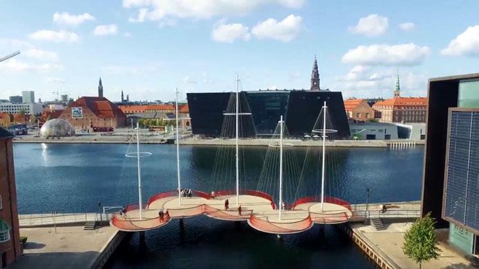 Cirkelbroen (Le Pont Circulaire) - © Visit Denmark
