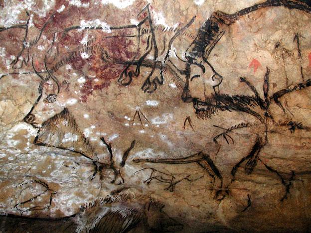 Peintures de bisons dans la grotte de Niaux- © ADT09