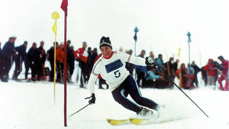 Marielle Goitschel médaille d'or en Slalom Spécial - © DR