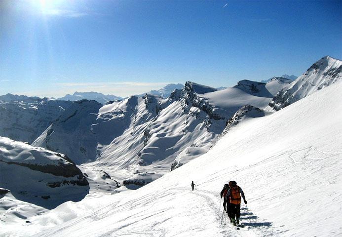 Sur le parcours de  ski de randonnée - © Office du Tourisme