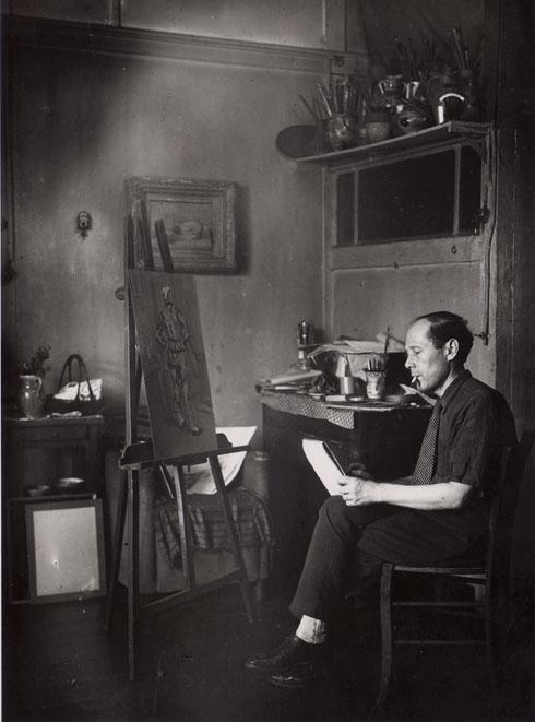 Ossip Lubitch dans son atelier - Archives de la famille