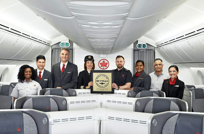 Air Canada meilleur transporteur aérien en Amérique du Nord aux World Airline Awards Skytrax