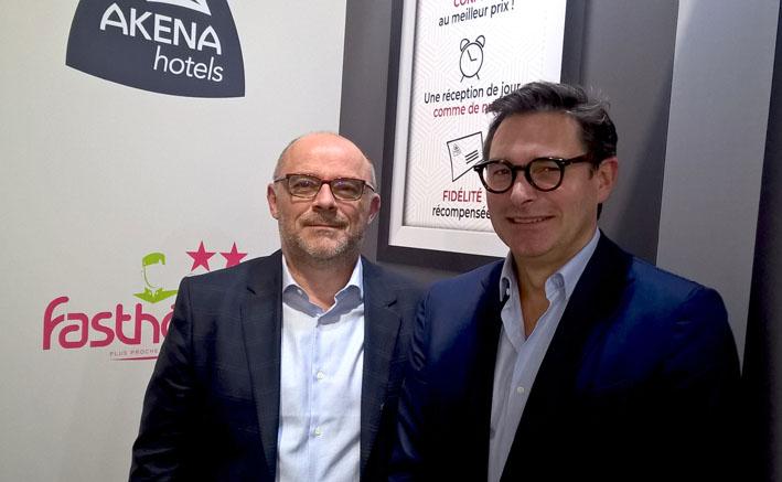 Frederic Hourmant (FastHotel) et Marc_Plisson (Akena) - © D. Raynal