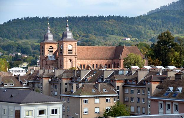 Vue du centre et de la cathédrale de Saint-Dié-des-Vosges - © D. Raynal