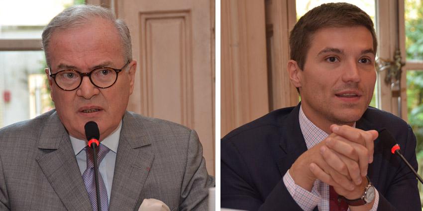 Christian Pierret Fondateur du FIG (à gauche) et David Valence (à droite), maire de Saint-Dié - © D. Raynal