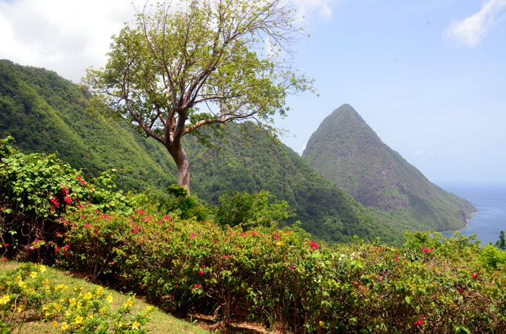 Vue imprenable sur les pitons au Ladera Resort© D. Raynal