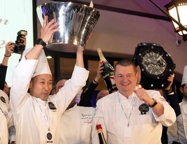 Osamu Tsukamoto et Gilles Demange, Président de la Confrérie du Paté-croûte - © Confrérie du Paté-croûte