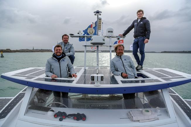 Victorien Erussard, Jérôme Delafosse, Marin Jarry et Jean-Baptiste Sanchez © Energy Observer Productions - Amélie Conty