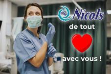 L'entreprise Nicols soutient le personnel médical