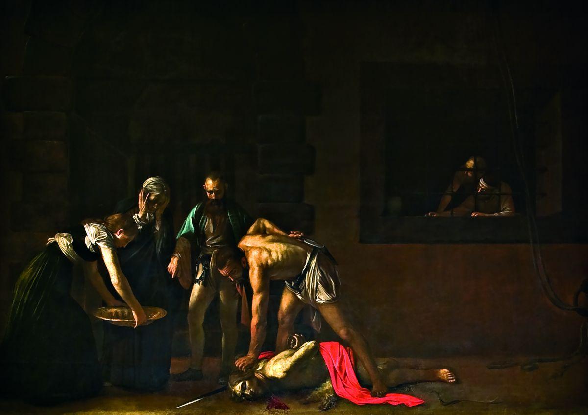 La décollation de Saint Jean-Baptiste, Michelangelo Merisi da Caravaggio, 1608 Oratoire de la Co-cathédrale Saint-Jean, La Valette - © Office du Tourisme de Malte