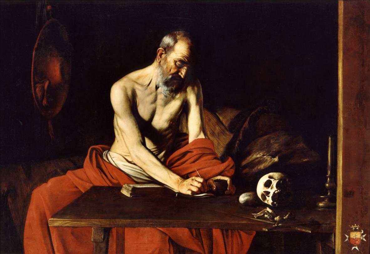 Saint Jérôme écrivant, Michelangelo Merisi da Caravaggio, 1608 - Oratoire de la Co-cathédrale Saint-Jean, La Valette - © Office du Tourisme de Malte
