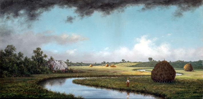 Martin Johnson Heade (1819-1904) Le Marais de Newburyport : l'approche de l'orage, vers 1871 © Terra Foundation for American Art, Chicago.