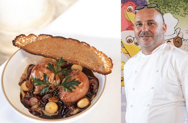 Bruno Brangea et sa recette de l'oeuf en meurette - © DR