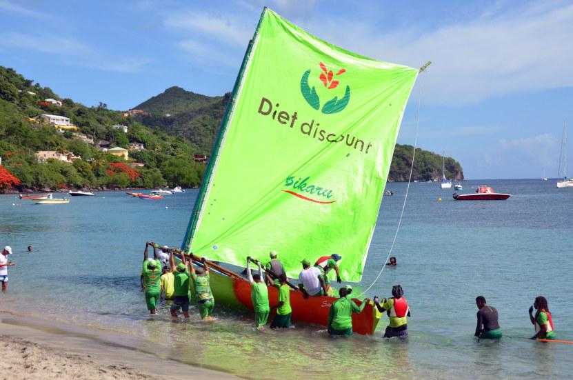 Embarcation traditionnelle de Martinique, la célèbre yole est désormais inscrite (depuis décembre 2020) sur le Registre des bonnes pratiques de sauvegarde du patrimoine culturel immatériel de l'humanité (UNESCO).© David Raynal