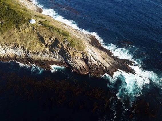 Vue aérienne du « Phare du bout du monde » en Patagonie - © Droits réservés