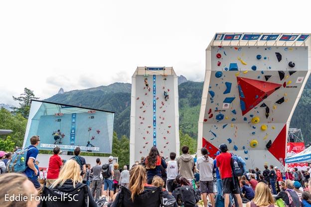 Coupe du monde d'escalade - Chamonix 2019 - © Eddie Fowke