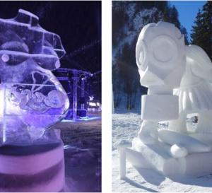 Sculptures glace et neige à Valloire