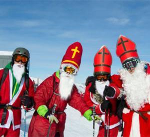 St-Nicolas et Pères Fouettards à Verbier le 8 décembre