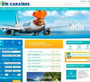 Air Caraïbes lance son nouveau site internet