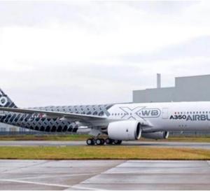 Une livrée carbone pour le troisième Airbus A350
