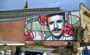 Fresque murale de Charles Rennie Mackintosh à Glasgow. Crédit photo David Raynal